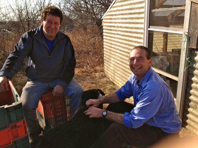Raymond and David Greenberg, April 11, 2012