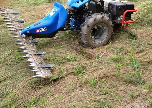 Small grain harvest heliotrust for Sickle mower for garden tractor