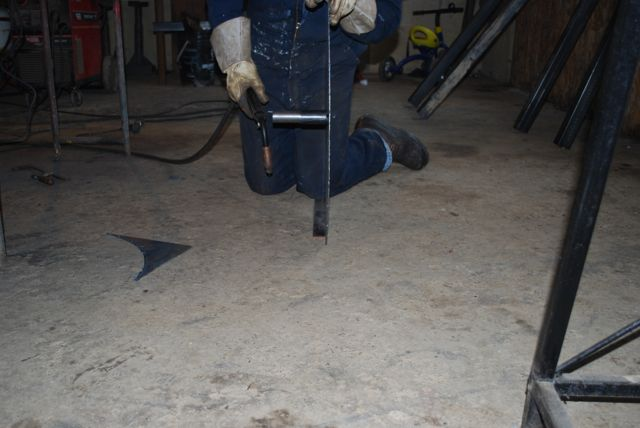 Welding in spindle